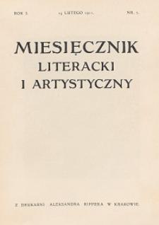 Miesięcznik Literacki i Artystyczny : pismo poświęcone literaturze i sztuce. 1911, R. 1, nr 2