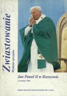 Zwiastowanie : pismo Diecezji Rzeszowskiej. 1992, R. 1, nr 2