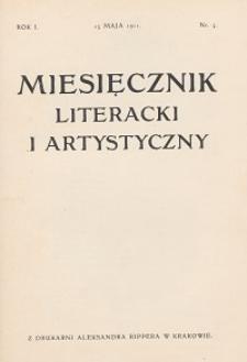 Miesięcznik Literacki i Artystyczny : pismo poświęcone literaturze i sztuce. 1911, R. 1, nr 5
