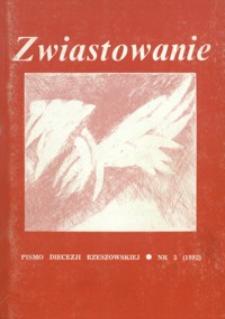 Zwiastowanie : pismo Diecezji Rzeszowskiej. 1992, R. 1, nr 3