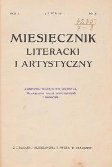 Miesięcznik Literacki i Artystyczny : pismo poświęcone literaturze i sztuce. 1911, R. 1, nr 7