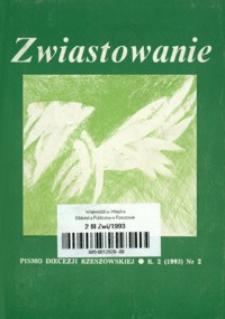 Zwiastowanie : pismo Diecezji Rzeszowskiej. 1993, R. 2, nr 2