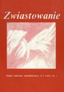 Zwiastowanie : pismo Diecezji Rzeszowskiej. 1993, R. 2, nr 3