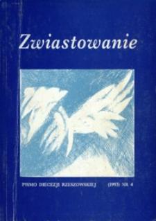 Zwiastowanie : pismo Diecezji Rzeszowskiej. 1993, R. 2, nr 4