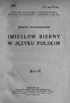 Imiesłów bierny w języku polskim