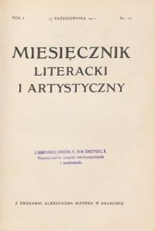 Miesięcznik Literacki i Artystyczny : pismo poświęcone literaturze i sztuce. 1911, R. 1, nr 10