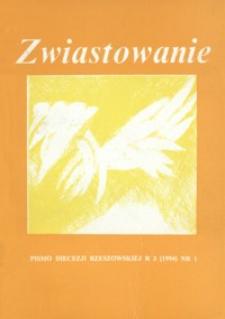 Zwiastowanie : pismo Diecezji Rzeszowskiej. 1994, R. 3, nr 1