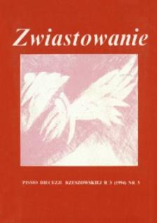 Zwiastowanie : pismo Diecezji Rzeszowskiej. 1994, R. 3, nr 3
