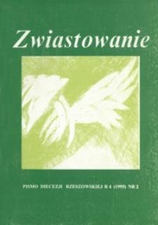 Zwiastowanie : pismo Diecezji Rzeszowskiej. 1995, R. 4, nr 2