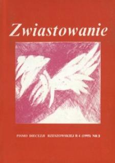 Zwiastowanie : pismo Diecezji Rzeszowskiej. 1995, R. 4, nr 3
