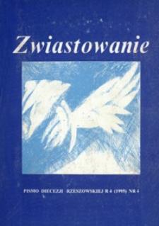 Zwiastowanie : pismo Diecezji Rzeszowskiej. 1995, R. 4, nr 4
