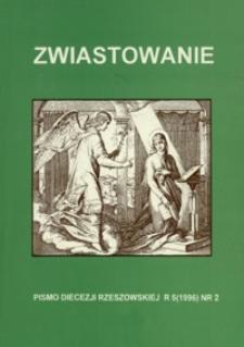 Zwiastowanie : pismo Diecezji Rzeszowskiej. 1996, R. 5, nr 2