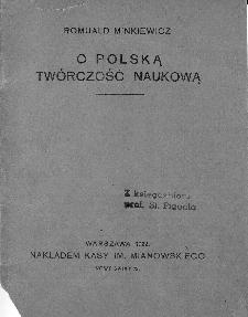 O polską twórczość naukową