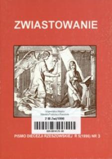 Zwiastowanie : pismo Diecezji Rzeszowskiej. 1996, R. 5, nr 3