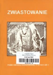 Zwiastowanie : pismo Diecezji Rzeszowskiej. 1997, R. 6, nr 1
