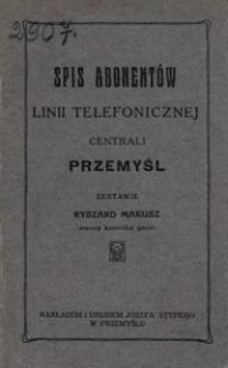 Spis abonentów linii telefonicznej centrali Przemyśl