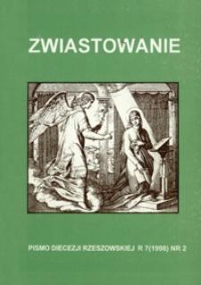Zwiastowanie : pismo Diecezji Rzeszowskiej. 1998, R. 7, nr 2