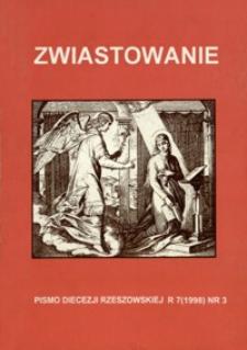 Zwiastowanie : pismo Diecezji Rzeszowskiej. 1998, R. 7, nr 3