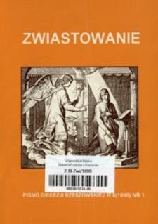 Zwiastowanie : pismo Diecezji Rzeszowskiej. 1999, R. 8, nr 1