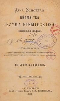 Jana Schobera gramatyka języka niemieckiego (pierwotny przekład E. Rebena)