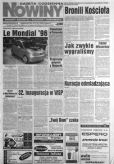 Nowiny : gazeta codzienna. 1996, nr 191-213 (październik)