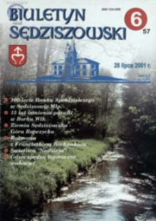 Biuletyn Sędziszowski. 2001, [R. 10], nr 6 (28 lipca)