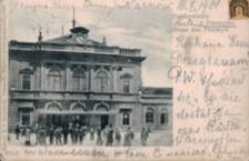 Pozdrowienie z Przemyśla. Dworzec Kolejowy = Gruss aus Przemyśl. Bahnhof [Widokówka z obiegu]
