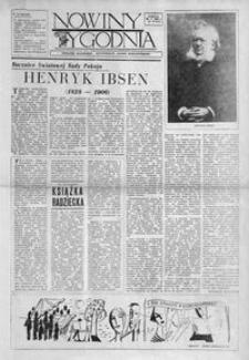 """Nowiny Tygodnia : dodatek społeczno-kulturalny """"Nowin Rzeszowskich"""". 1956, R. 5, nr 19 (26 maja)"""