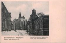 Pozdrowienie z Przemyśla. Rzym kat. Kościół katedralny = Gruss aus Przemyśl. Rom. kath. Katedralkirche [Widokówka czysta]