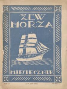 Zew Morza : organ Zarządu Obwodu Ligi Morskiej i Kolonjalnej w Przemyślu. 1935, R. 2, nr 1 (styczeń)