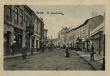 Sanok. Ul. Jagiellońska [Fotowidokówka z obiegu]