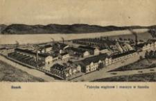Sanok. Fabryka wagonów i maszyn w Sanoku [Widokówka czysta]