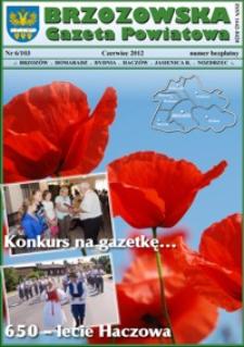 Brzozowska Gazeta Powiatowa. 2012, nr 6 (czerwiec)