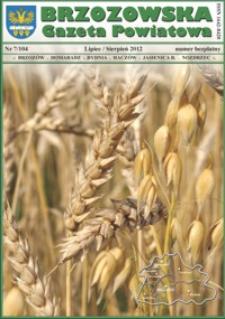 Brzozowska Gazeta Powiatowa. 2012, nr 7 (lipiec/sierpień)