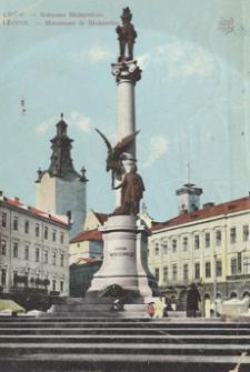 Lwów - Kolumna Mickiewicza = Leopol - Monument de Mickiewicz [Widokówka z obiegu]