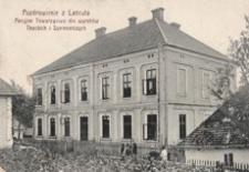 Pozdrowienie z Lańcuta : Akcyjne Towarzystwo dla wyrobów Tkackich i Sukienniczych [Fotowidokówka z obiegu]