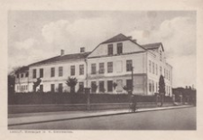 Łańcut. Gimnazjum im. H. Sienkiewicza [Pocztówka]
