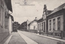 Łańcut. Gimnazyum-Gymnasium [Pocztówka]