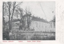 """Łańcut. Zamek """"Połud: strona"""" = Schloss """"Sudseite"""" [Pocztówka]"""