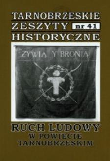 Tarnobrzeskie Zeszyty Historyczne. 2014, nr 41 (kwiecień)