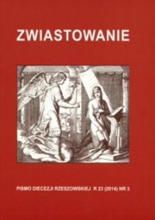Zwiastowanie : pismo Diecezji Rzeszowskiej. 2014, R. 23, nr 3