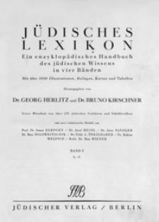 Jüdisches Lexikon : ein enzyklopädisches Handbuch des jüdischen Wissens in vier Bänden. Bd. 1, A-C