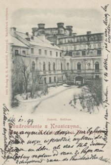 Pozdrowienie z Krasiczyna - Gruss aus Krasiczyn bei Przemyśl [Fotowidokówka z obiegu]