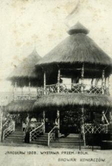 Jarosław 1908. Wystawa Przem. i Roln. Browar Koniaczów [Pocztówka]