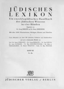 Jüdisches Lexikon : ein enzyklopädisches Handbuch des jüdischen Wissens in vier Bänden. Bd. 3, Ib-Ma