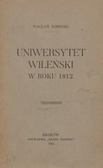 Uniwersytet Wileński w roku 1812