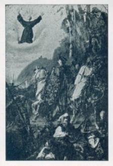 Cudowna obrona miasta Lwowa w r. 1648 przed Tatarami za przyczyną Św. Jana z Dukli [Widokówka czysta]