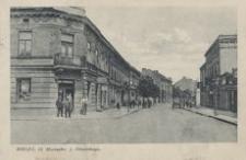 Mielec. Ul. Marszałka J. Piłsudskiego [Widokówka z obiegu]