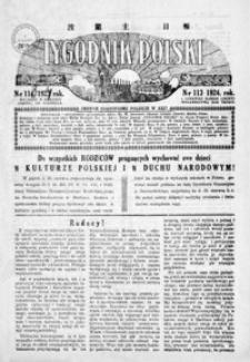 Tygodnik Polski : jedyne czasopismo polskie w Azji. 1924, R. 3, nr 113-117 (czerwiec)