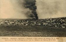 Przemyśl - Wysadzenie magazynów z amunicyą w dniu poddania się twierdzy (22.3.1915) = Sprengung der Munitionsmagazine am Tage der Ubergabe der Festung (22.3.1915) [Pocztówka]
